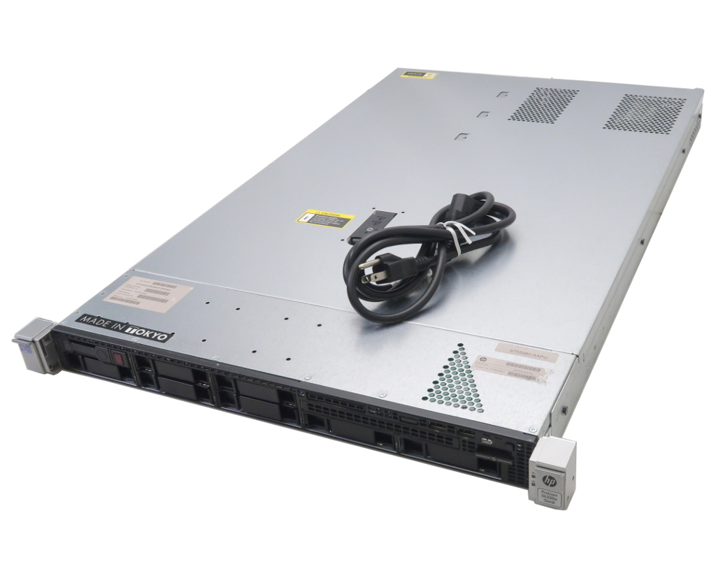 hp ProLiant DL320e Gen8 Xeon E3-1220v2 3.1GHz 8GB 500GBx1台(SATA2.5インチ/RAIDなし) SmartArray-P420 675598-B21 【中古】【20180417】