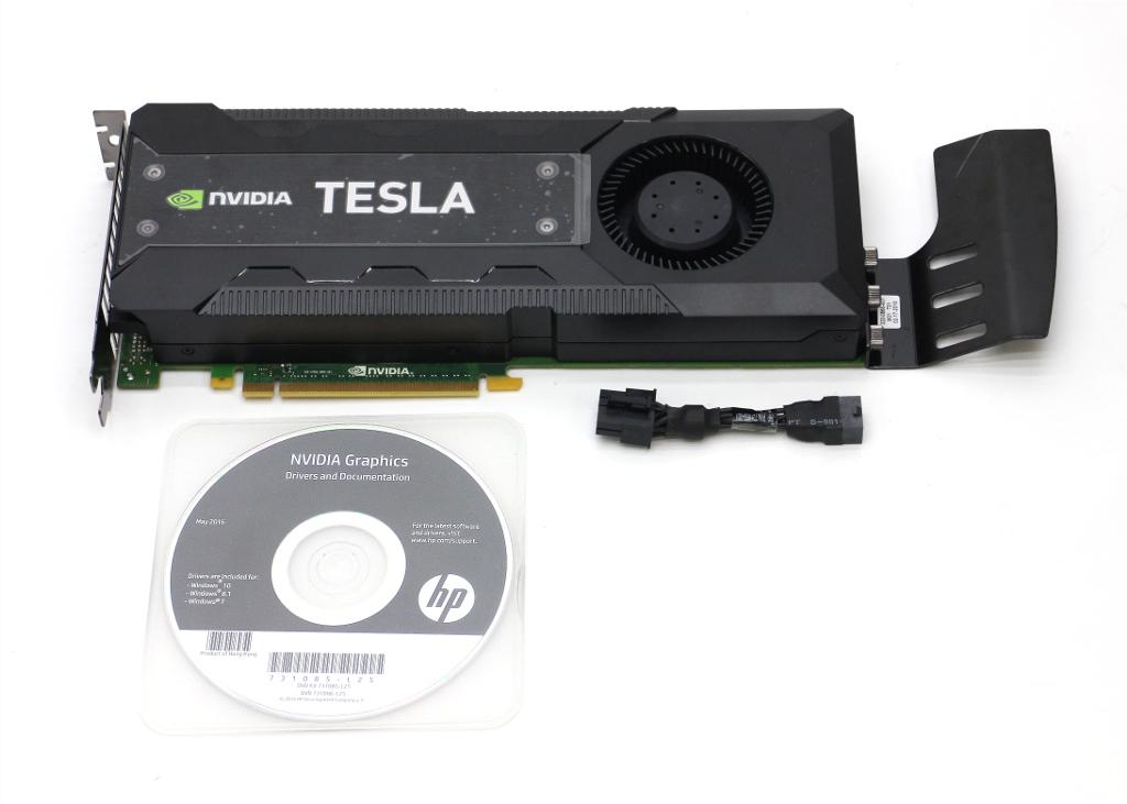 nVidia Tesla K40c GPUコンピューティングプロセッサ hp F4A88AA/744718-001 1GPU2880CUDAコア 12GB GDDR5メモリ 動作確認済 【中古】【20180507】