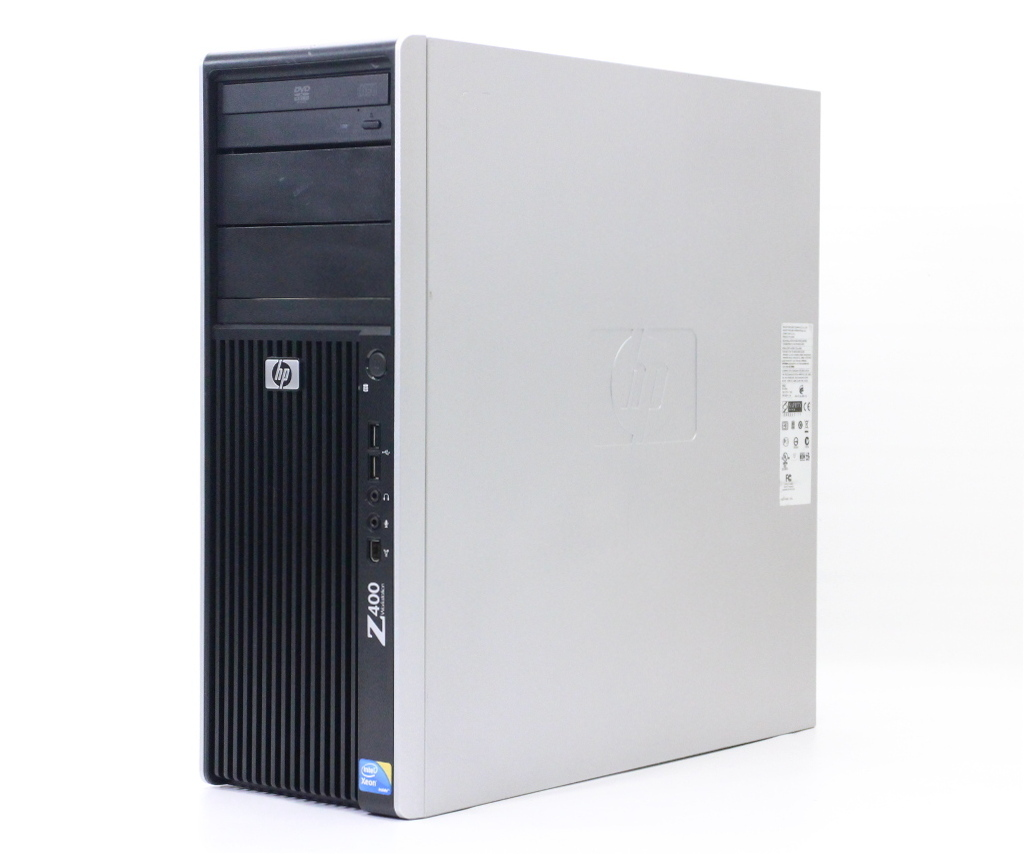 hp Z400 (水冷モデル) VS933AV Xeon W3565 3.2GHz 6GB 500GB Quadro600 DVD-ROM Windows7 Pro 64bit 【中古】【20180517】