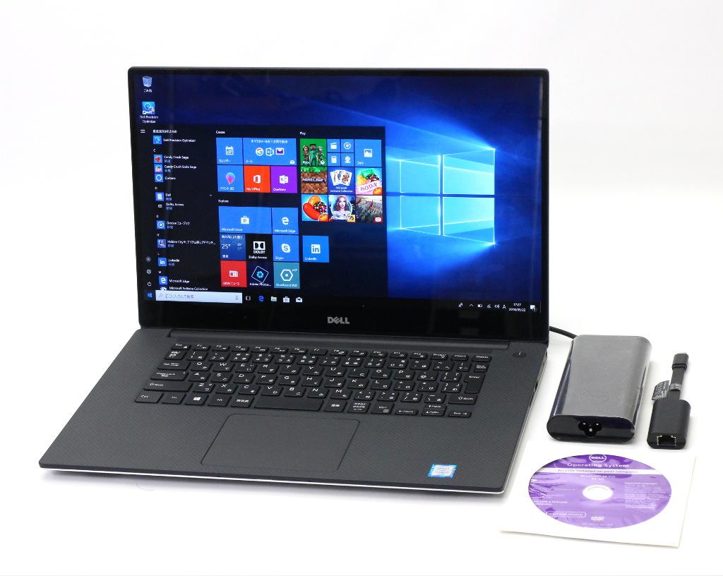 DELL Precision 5510 Core i7-6820HQ 2.7GHz 16G 512GB(NVMe SSD) M1000M 15.6インチ タッチ 4K 3840x2160 Windows10 Pro 64bit 【中古】【20180525】