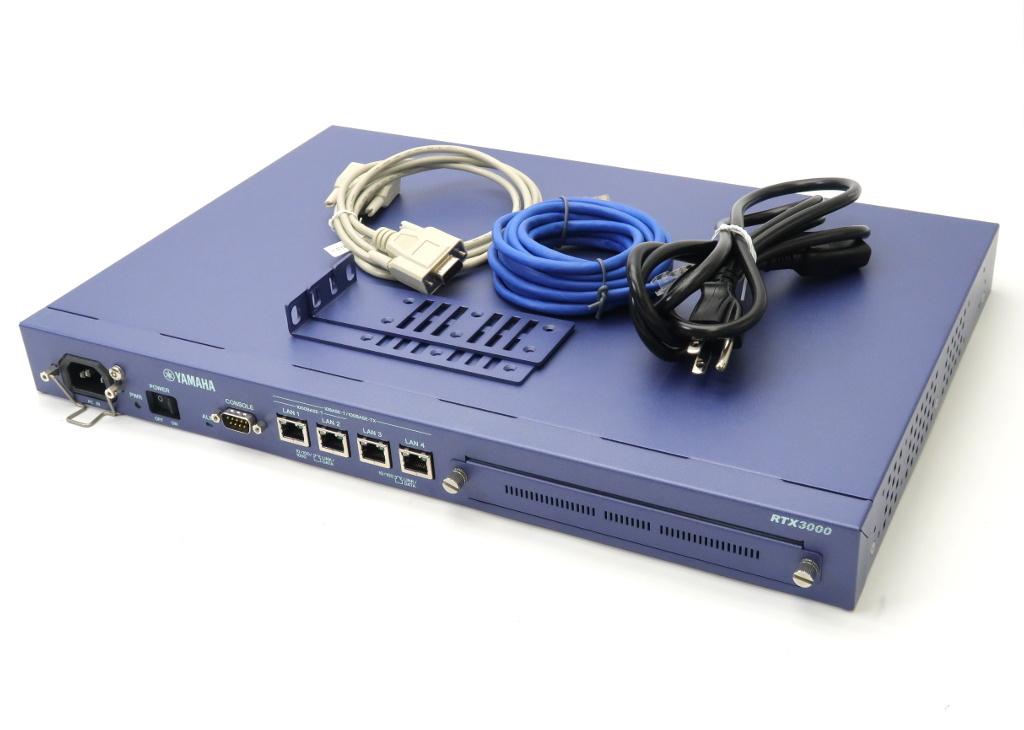 YAMAHA RTX3000 1Uラックマウント VPNルーター Rev.9.00.60 IPsec対応 IPsec 1000BASE-T 100BASE-TX 2ポート 設定初期化済 【中古】【20180531】