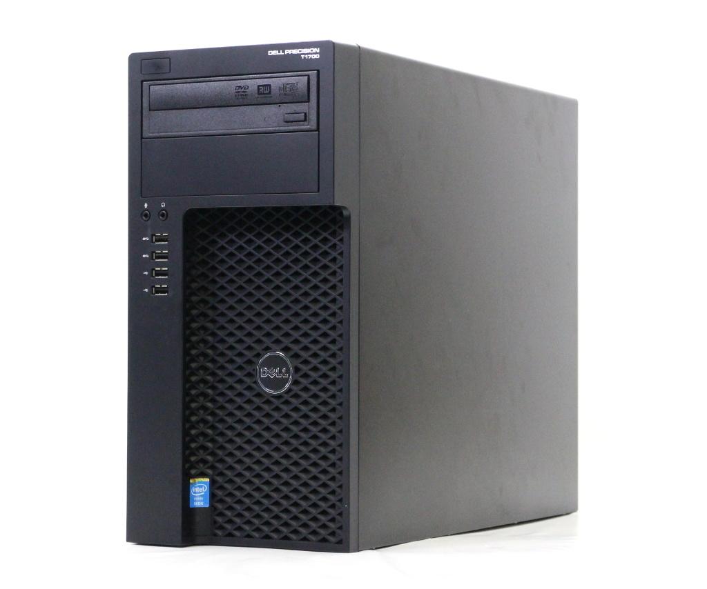 DELL Precision 1700 MT Xeon E3-1220v3 3.1GHz 32GB 500GBx2台 QuadroK4000 DVD+-RW Windows7 Pro 64bit (8Proダウングレード) 【中古】【20180507】