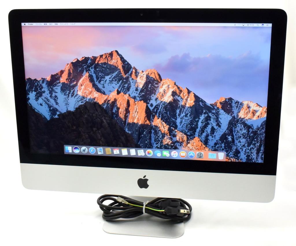 Apple iMac 21.5インチ Core i5-3470S 2.9GHz/8GB/1TB/GeForce GT650M/フルHD/1920x1080/macOS Sierra 10.12.1 Late 2012 A1418 【中古】【20180510】