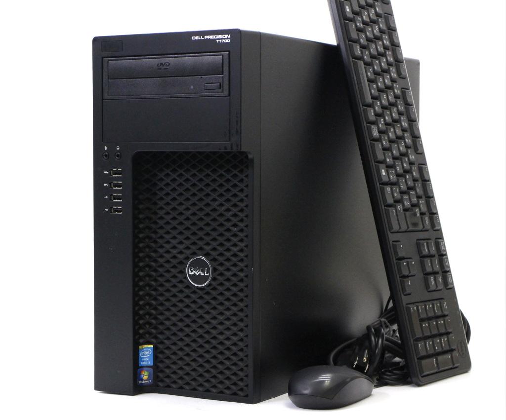 DELL Precision T1700 MT Core i3-4130 3.4GHz 4GB 500GB Quadro K600 DVD-ROM Windows7 Pro 64bit 【中古】【20180622】