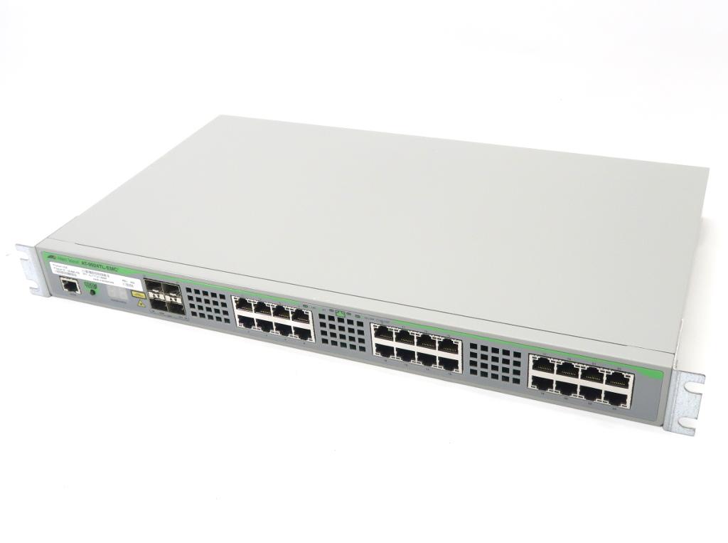 Allied Telesis AT-9924TL-EMC2 24ポート 1000BASE-T 4ポートSFP(1000BASE-Tポート共用)搭載 L3スイッチ 設定初期化済 【中古】【20180612】