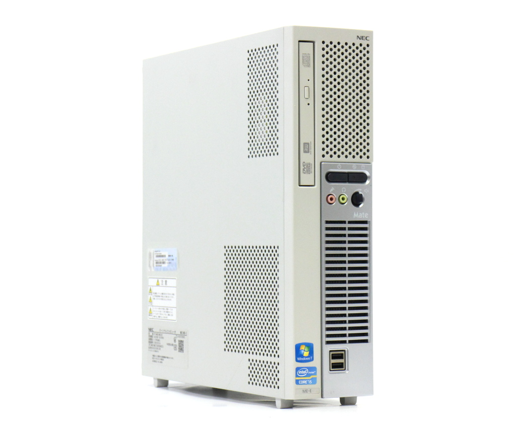 NEC Mate MK31M/E-E PC-MK31MEZCE Core i5-3540 3.1GHz 4GB 500GB DVI-D/アナログRGB DVD+-RW Windows7 Pro 32bit 【中古】【20180611】