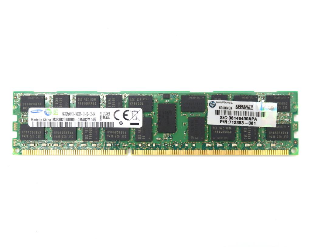 hp 712383-081 16GB PC3-14900R DDR3 ECC Registered Z620/Z820等対応 Samsung製 2Rx4 【中古】【20180621】