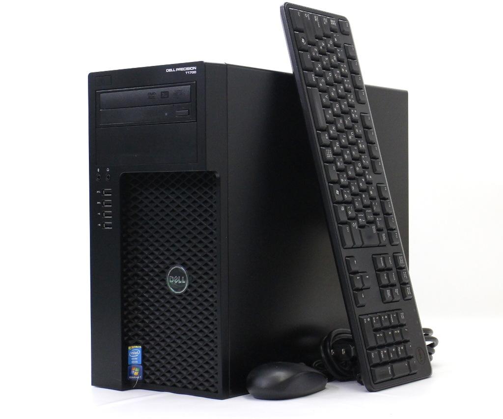 DELL Precision T1700 MT Xeon 1226v3 3.3GHz 8GB 500GB Quadro K620 DVD+-RW Windows7 Pro 64bit 【中古】【20180619】
