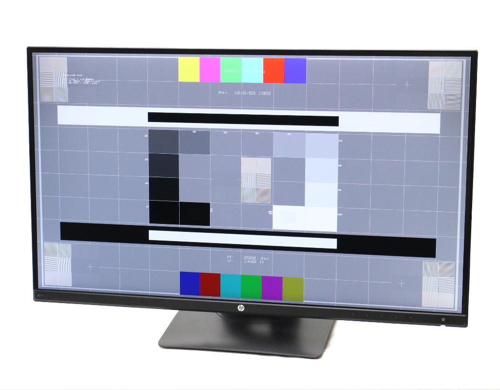 hp Z27n 狭額ベゼル 27インチ 非光沢 IPSパネル WQHD 2560x1440ドット DVI-D/miniDisplayPort/HDMI/DisplayPort入力 2250h 【中古】【20180621】