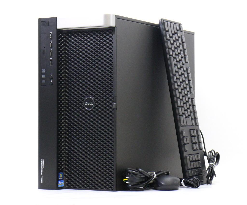 DELL Precision T7600 Xeon E5-2687W 3.1GHz*2 16GB 1TB Quadro K2000 DVD+-RW Windows7 Pro 64bit PERC H310 【中古】【20180625】