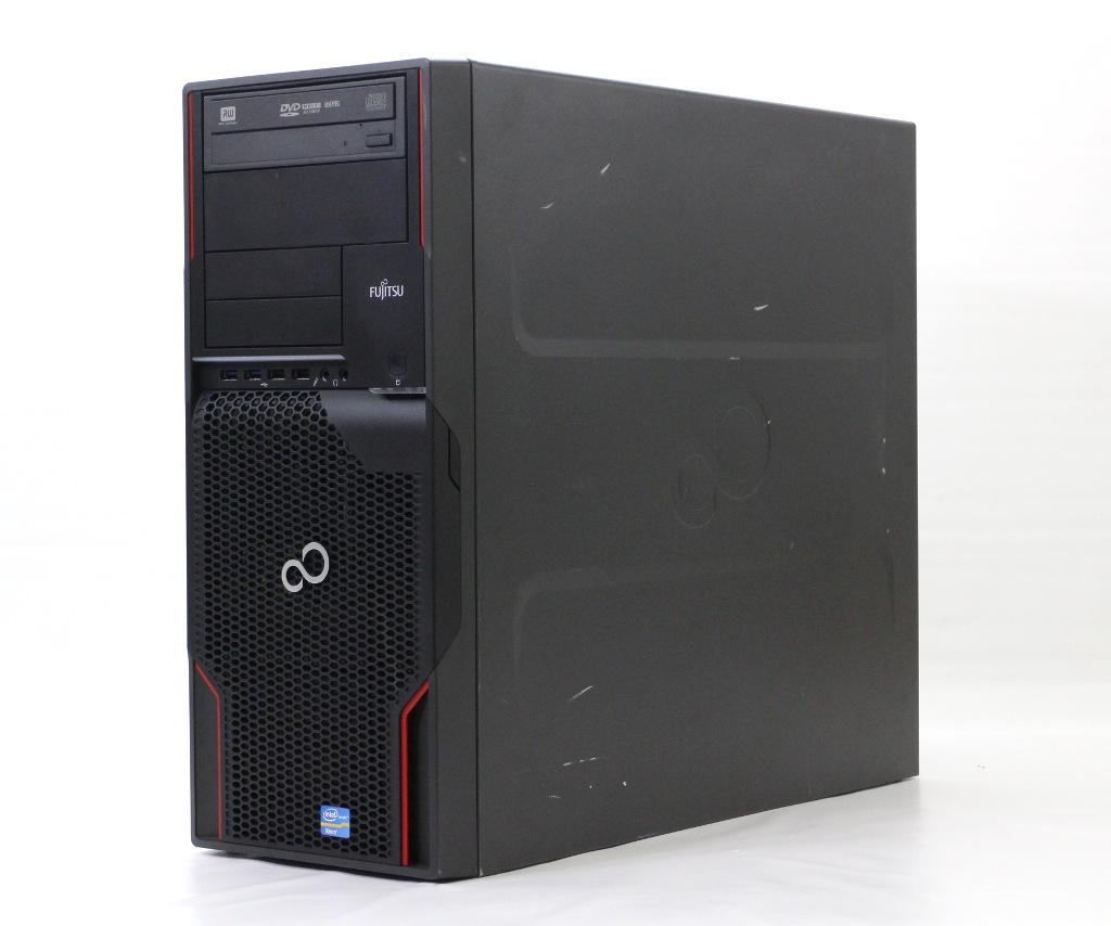 富士通 CELSIUS M720 Xeon E5-1650 3.2GHz 32GB 160GB(SSD) 2TB 計2台構成 Quadro600 DVD+-RW Windows10 Pro 64bit (MAR) 【中古】【20180709】