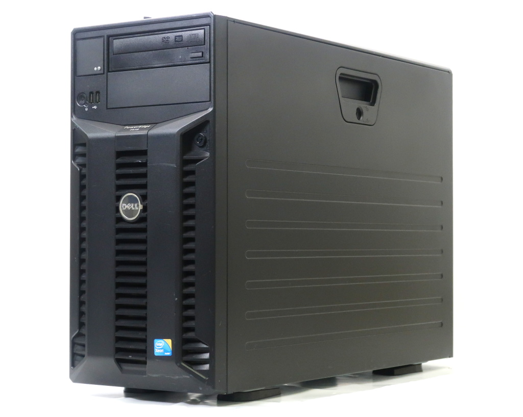 DELL PowerEdge T410 II Xeon E5620 2.4GHz 8GB 500GBx3台(SATA3.5インチ/RAID5構成) DVD+-RW LSI 9750-4i 【中古】【20180727】