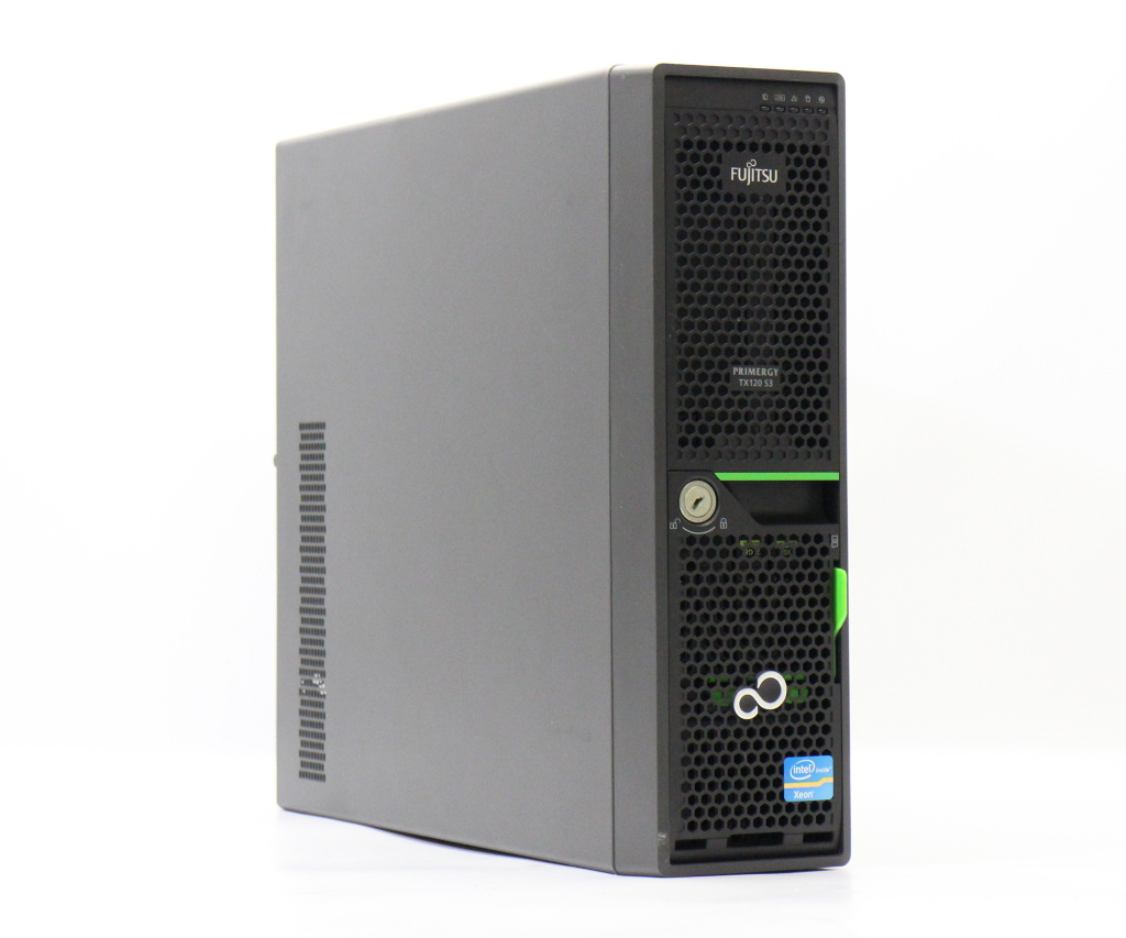 富士通 PRIMERGY TX120 S3 Xeon E3-1220v2 3.1GHz 4GB 73GBx3台(SAS2.5/6Gbps/RAID6) DVD-ROM RAID Ctrl SAS6G 5/6 (D2616) 【中古】【20180719】