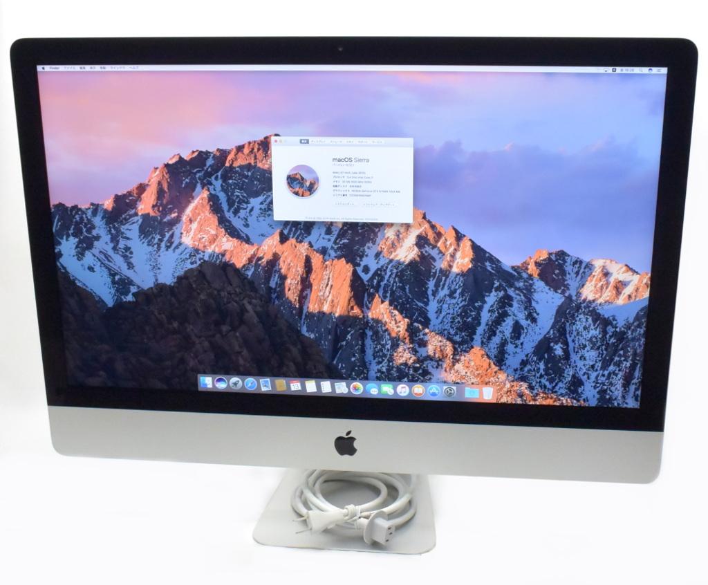 (訳ありセール 格安) Apple iMac 27インチ Core i7-3770 3.4GHz 32GB 1TB GeForce GTX675MX WQHD 2560x1440 macOS Sierra 10.12.1 Late 2012 A1419 【】【20180725】, シーボディオフィシャル f41112ee
