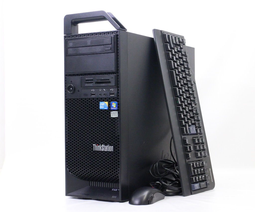 Lenovo ThinkStation S20 41052KJ Xeon W3565 3.2GHz 12GB 500GB Quadro2000 DVD-ROM Windows7 Pro 64bit 【中古】【20180805】