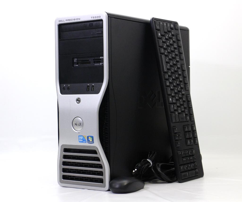 DELL Precision T5500 Xeon E5620 2.4GHz 4GB 1TB Quadro2000 DVD+-RW Windows7 Pro 64bit 【中古】【20180824】