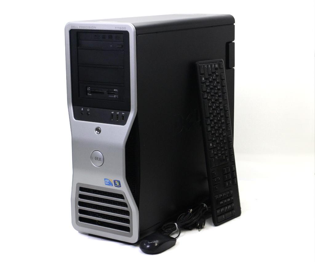 DELL Precision T7500 Xeon X5570 2.93GHz 6GB 250GB Quadro FX1800 BD-RE Windows7 Pro 64bit 【中古】【20180824】
