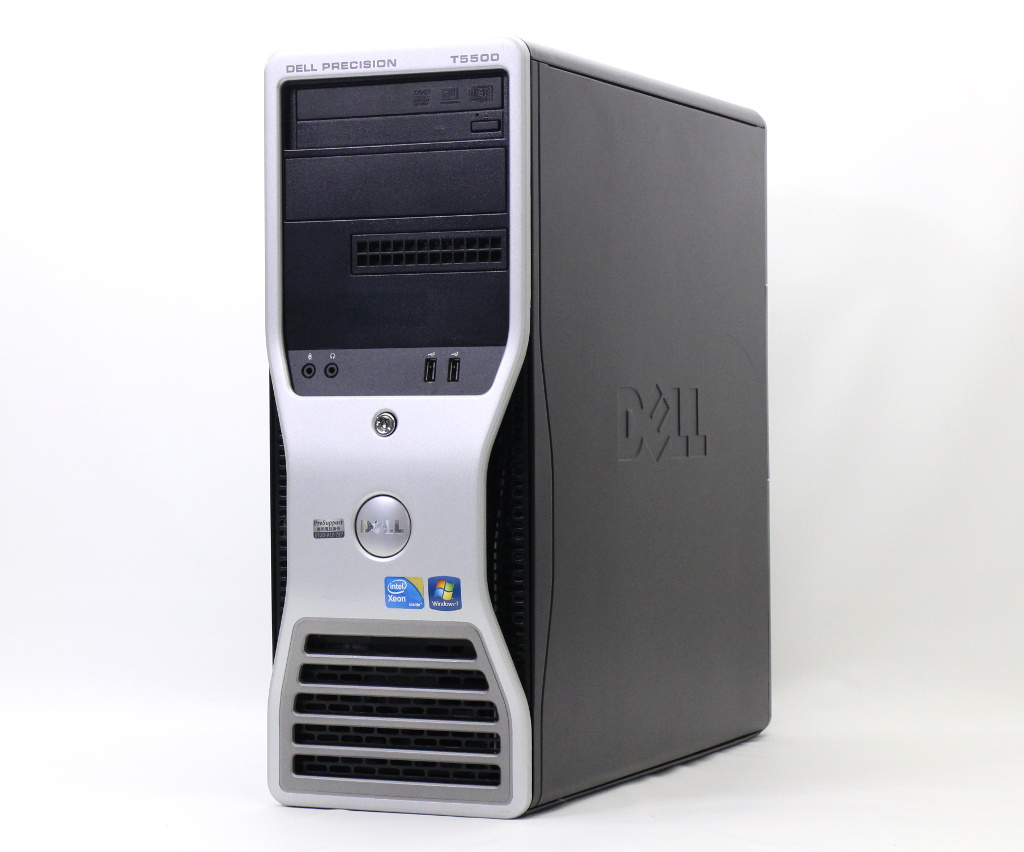 DELL Precision T5500 4画面対応 Xeon E5645 2.4GHz 24GB 500GB 1TB FirePro V7900 DVD+-RW Windows7 Ultimate 64bit 【中古】【20180926】