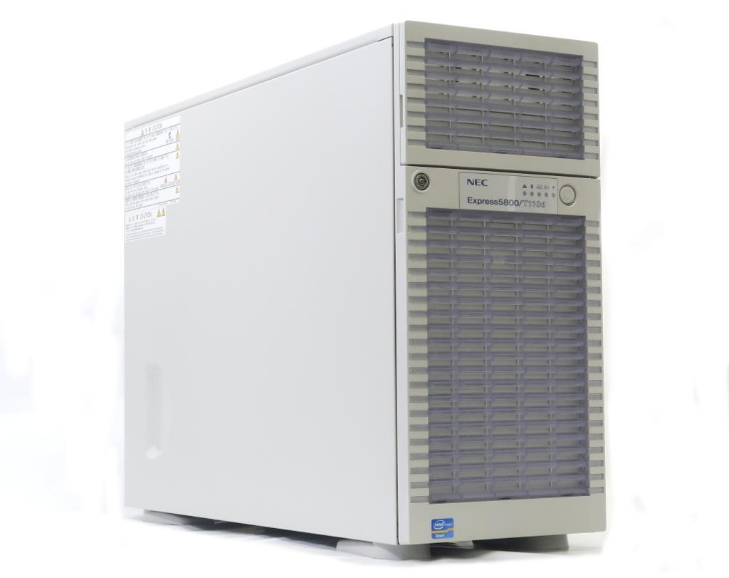 NEC Express5800/T110d 冗長電源 Xeon E5-2403 1.8GHz 8GB 300GBx3台(SAS2.5インチ/6Gbps/RAID5構成) DVD-ROM AC*2 N8103-150 【中古】【20180907】