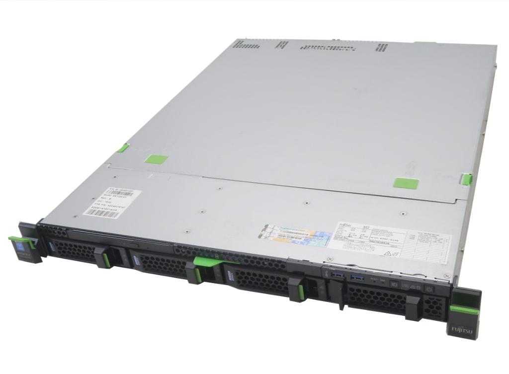 富士通 PRIMERGY RX1330 M1 冗長電源 Xeon E3-1220v3 3.1GHz 8GB 120GBx3台(SATA2.5インチSSD/RAID0) DVD-ROM AC*2 PSAS CP400i 【中古】【20180907】