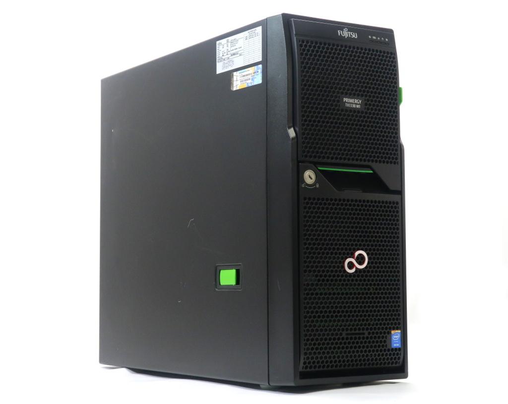 富士通 PRIMERGY TX1330 M1 Xeon E3-1220v3 3.1GHz 8GB 450GBx3台(SAS3.5インチ/6Gbps/RAID5構成) DVD-ROM D2616 【中古】【20180914】