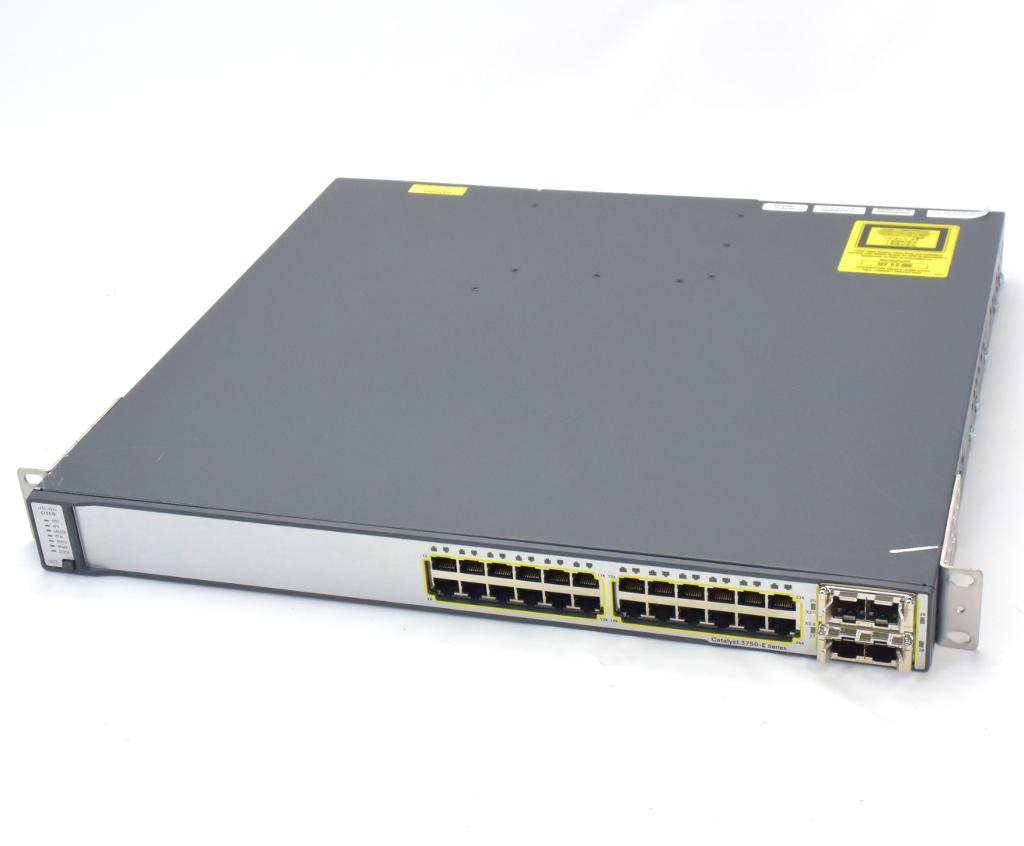 Cisco WS-C3750E-24TD-E V03 Ver.15.0(2)SE IPServices 1ポート(13番)不良あり 設定初期化済 【中古】【20180921】