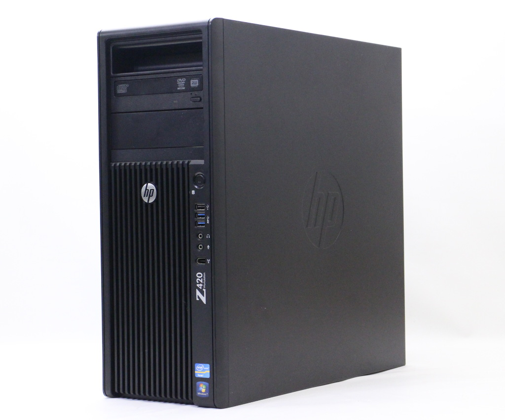 hp Z420 (水冷モデル) Xeon E5-1620 3.6GHz 8GB 500GB Quadro 2000 DVD+-RW Windows7 Pro 64bit 【中古】【20181003】