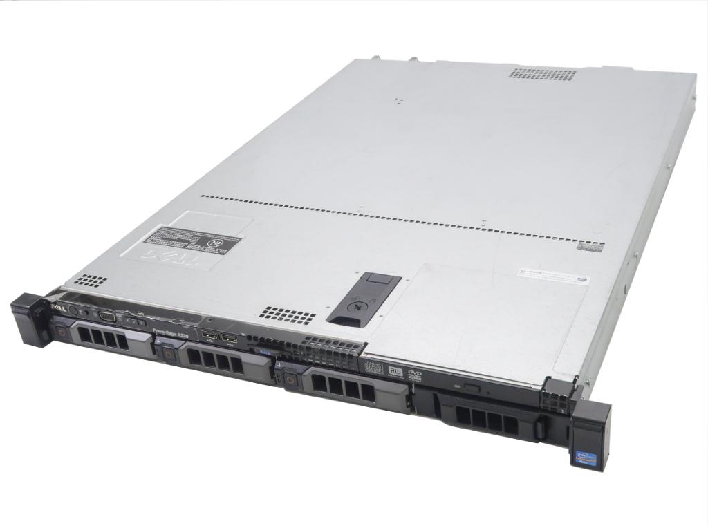 DELL PowerEdge R320 冗長電源 Xeon E5-2420 1.9GHz 12GB 500GBx3台(SATA3.5インチ/RAID5構成) DVD+-RW AC*2 PERC H310 Mini 【中古】【20181008】