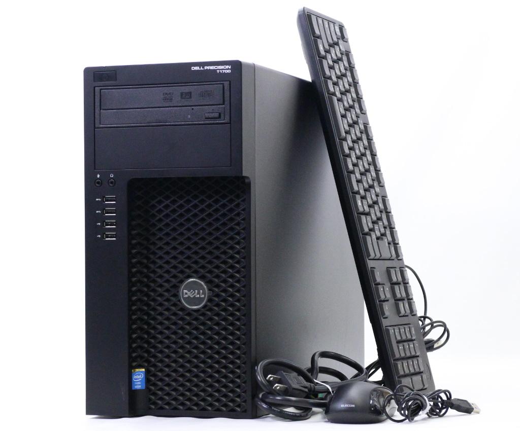 DELL Precision T1700 MT Xeon E3-1245 v3 3.4GHz 16GB 500GB FirePro W5000 DVD+-RW Windows7 Pro 64bit 【中古】【20181026】