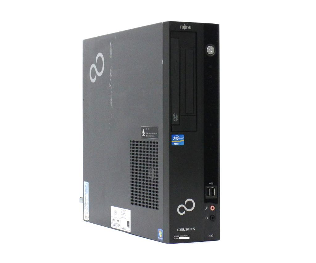 富士通 CELSIUS J520 Xeon E3-1225 v2 3.2GHz 8GB 500GB Quadro 2000 DVD-ROM Windows7 Pro 64bit 【中古】【20181012】