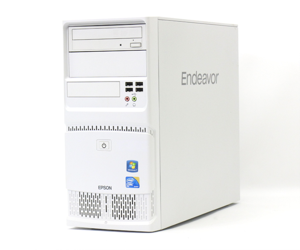 EPSON Endeavor MT9000 Core2Duo E8400 3GHz 2GB 500GB アナログRGB出力 DVD+-RW Windows7 Pro 64bit 【中古】【20181022】
