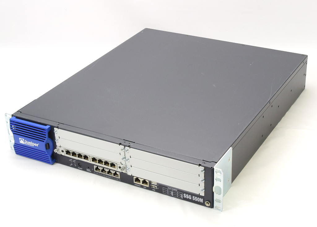 Juniper SSG 550M ScreenOS 6.3.0r9.0 JXU-8GE-TX-S増設 【中古】【20181029】