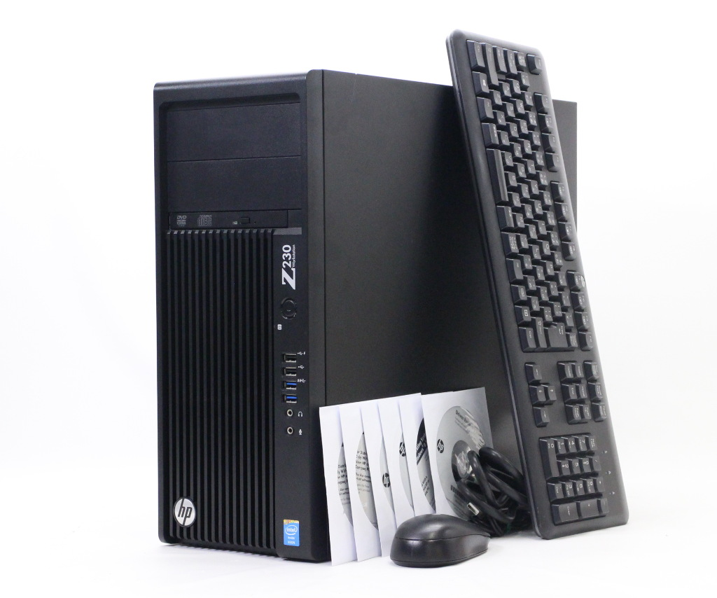 hp Z230 Xeon E3-1230 v3 3.3GHz 8GB 128GB(SSD) 500GB Quadro K600 DVD-ROM Windows7 Pro 64bit 【中古】【20181127】