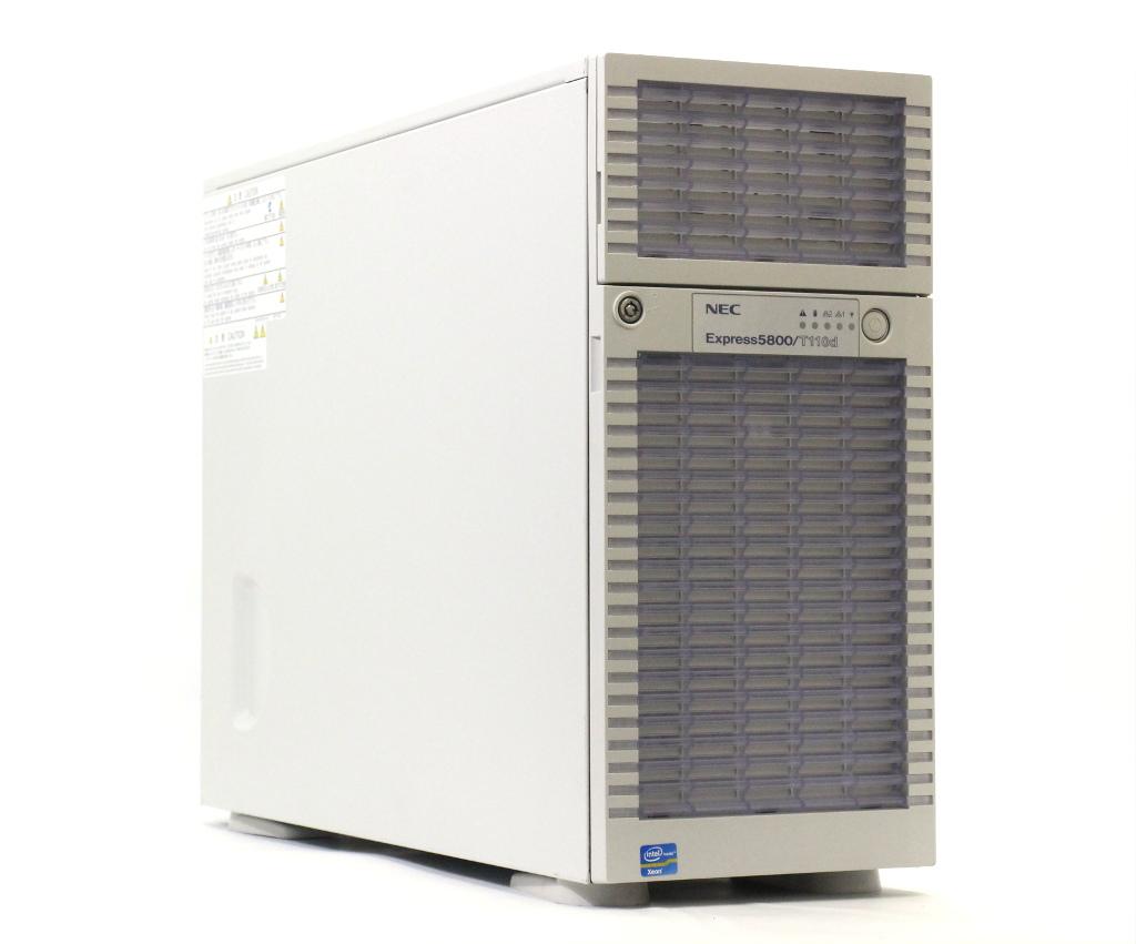 NEC Express5800/T110d Xeon E5-2403 1.8GHz 16GB 200GBx2台(SAS SSD/6Gbps/RAID1) DVD-ROM LSI Mega RAID SAS 9267-8i 【中古】【20181122】