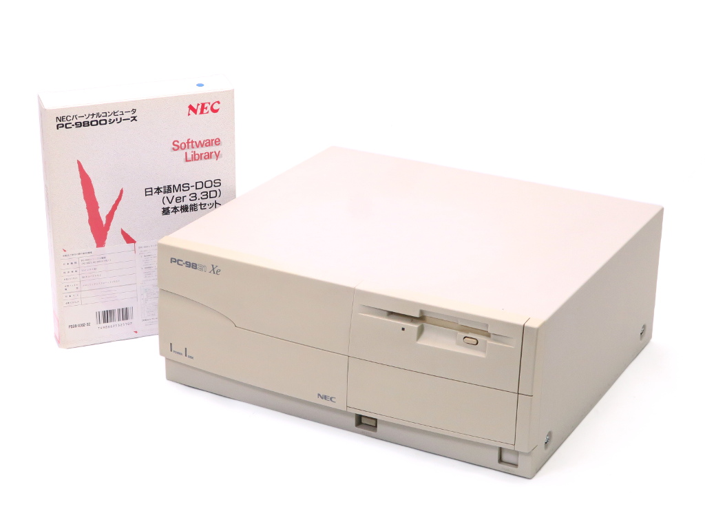 NEC PC-9821Xe/U7W i486SX 33MHz 14MB 340MB(3パーティション) MS-DOS3.3D 【中古】【20181107】