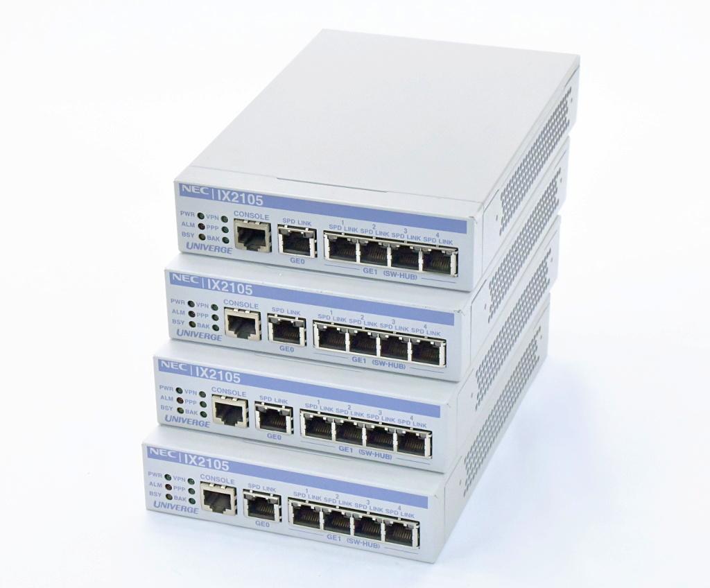 お気に入り NEC 4台セット UNIVERGE 4台セット 8.9.17B IX2105 2系統5ポート1000BASE-T NEC Version 8.9.17B WebUI対応 設定初期化済【中古】【20181213】, 沖縄健康食品Webショップ:17f752b4 --- ges.me