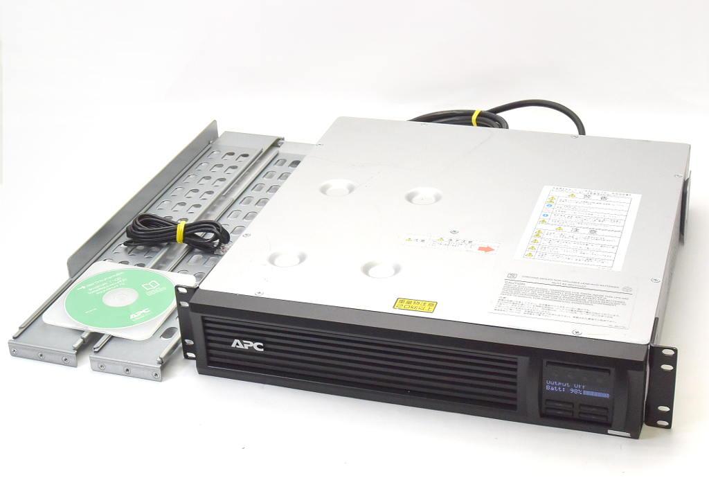【送料無料対象外】APC Smart-UPS 1500 RM 2U LCD SMT1500J 100V対応ラック型液晶コンソールつきUPS 2014年製造バッテリ推奨期限2019年10月 【中古】【20190131】