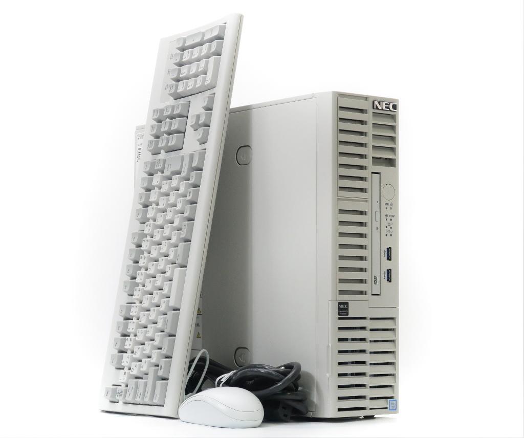 NEC Express5800/T110h-S Xeon E3-1220 v5 3GHz 16GB 500GBx2台(SATA3.5インチ/RAID1構成) DVD-ROM 【中古】【20190208】