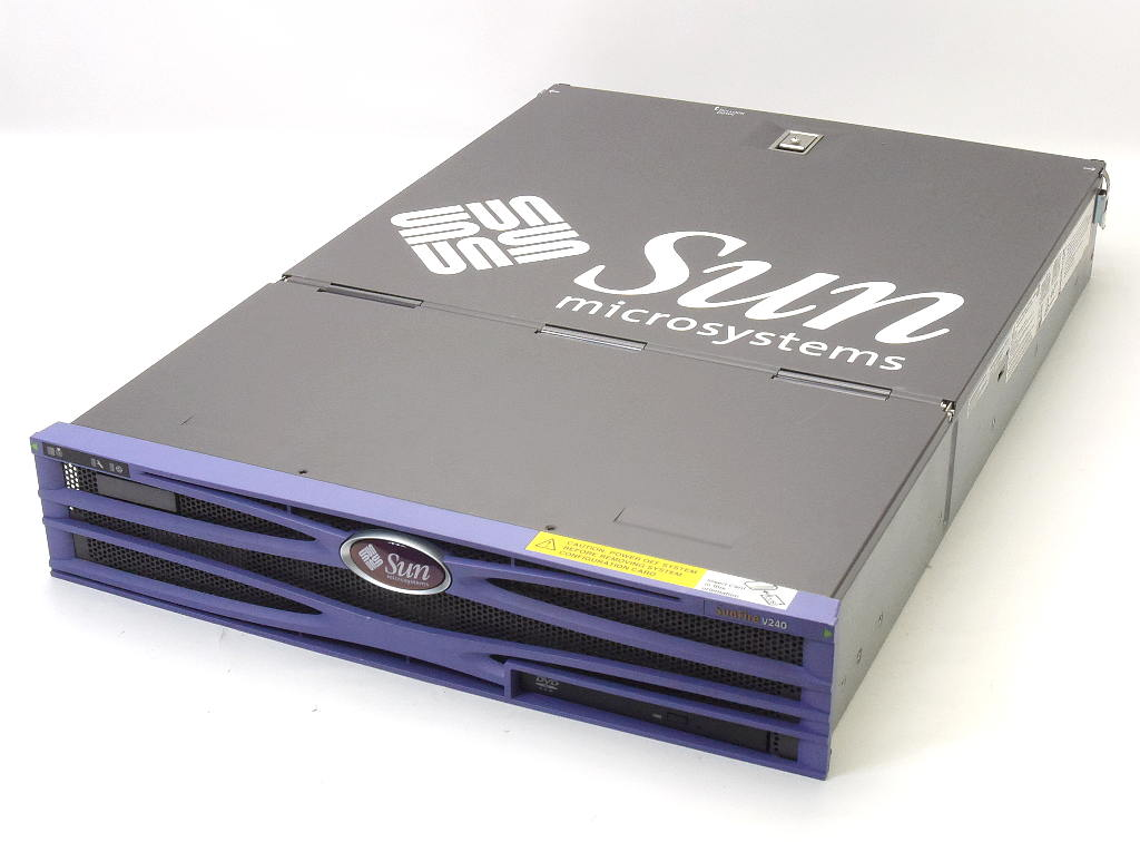 Sun Fire V240 OSなし UltraSPARC-3i V240 1.34GHz Sun 2GB 73GBx2台(SCSI) DVD-ROM AC*2 OSなし【中古】【20190227】, 家具達 -kagula-:3849e7de --- officewill.xsrv.jp