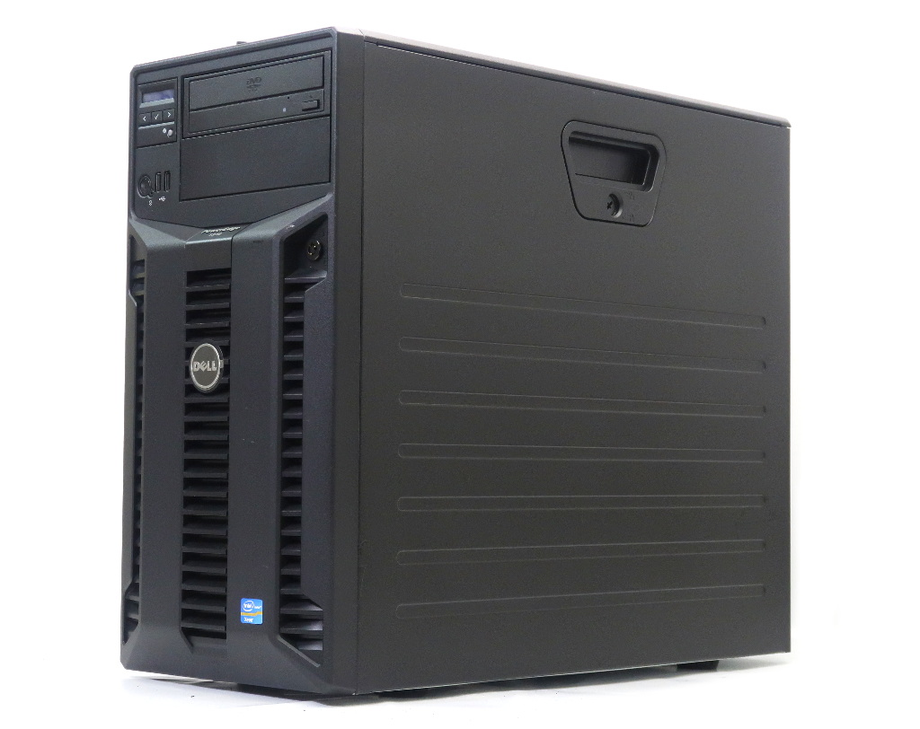 DELL PowerEdge T310 Xeon X3430 2.4GHz 8GB 300GBx2台(SAS3.5インチ/6Gbps/RAID1構成) DVD-ROM AC*2 PERC H200A 冗長電源 【中古】【20190307】