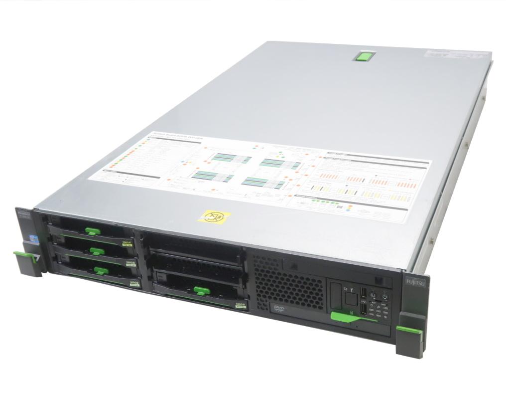 富士通 PRIMERGY RX300 S7 Xeon E5-2690 2.9GHz*2 16GB 300GBx4台(6Gbps/RAID6構成) DVD-ROM AC*2 D3116C 3.5インチモデル 【中古】【20190325】