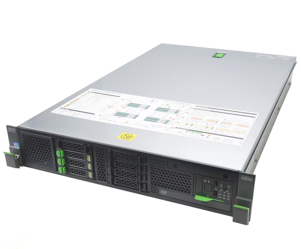 富士通 PRIMERGY RX300 S7 Xeon E5-2667 2.9GHz*2 16GB 600GBx3台(6Gbps/RAID5構成) DVD-ROM AC*2 D2616 2.5インチモデル 【中古】【20190325】