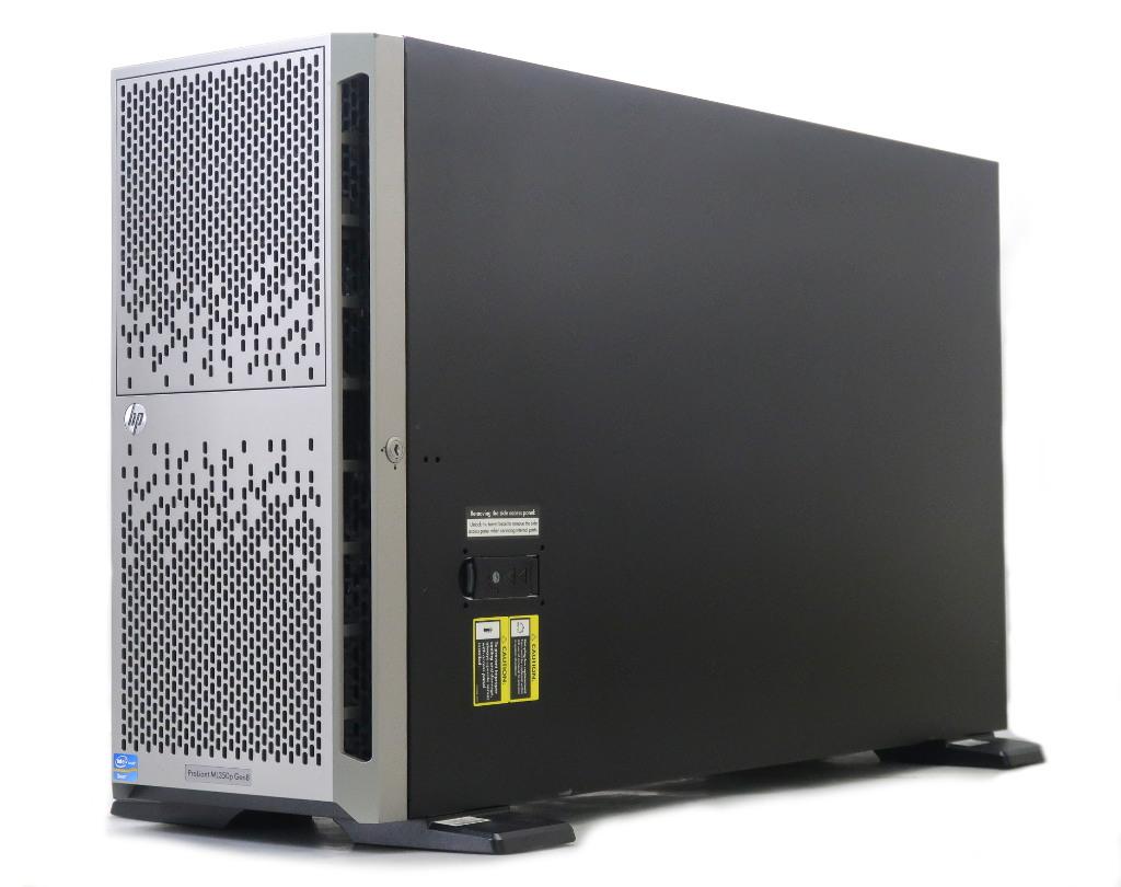 【送料無料対象外】hp ProLiant ML350p Gen8 Xeon E5-2609 2.4GHz 16GB 450GBx4台(6Gbps/RAID5) DVD-ROM AC*2 SmartArray P420i 3.5インチモデル 【中古】【20190401】