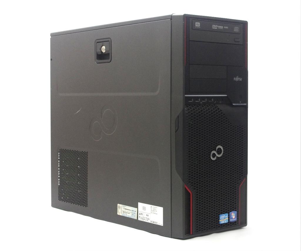 富士通 CELSIUS W510 Core i3-2100 3.1GHz 4GB 250GB(HDD) DisplayPort DVI-I出力 DVD+-RW Windows7 Pro 64bit 【中古】【20190405】