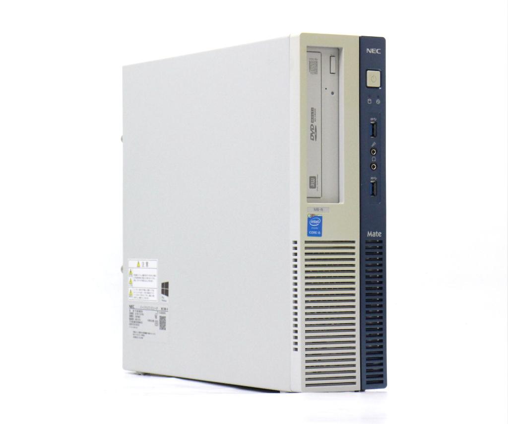 NEC Mate MK33M/B-N Core i5-4590 3.3GHz 4GB 500GB(HDD) DisplayPort アナログRGB出力 DVD+-RW Windows10 Pro 64bit 【中古】【20190402】