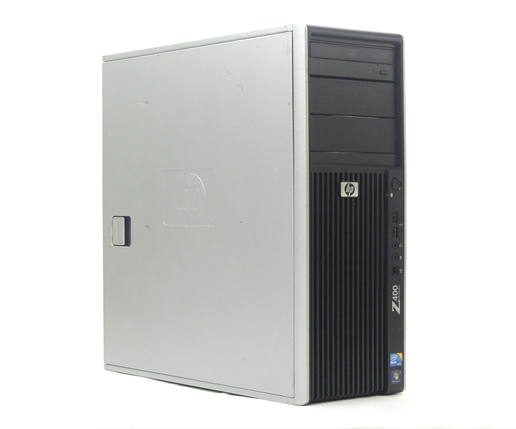 hp Z400 Workstation Xeon W3690 3.46GHz 3GB 300GB(SAS)x2台 Quadro 2000 DVD-ROM WindowsXP Pro 32bit 【中古】【20190422】