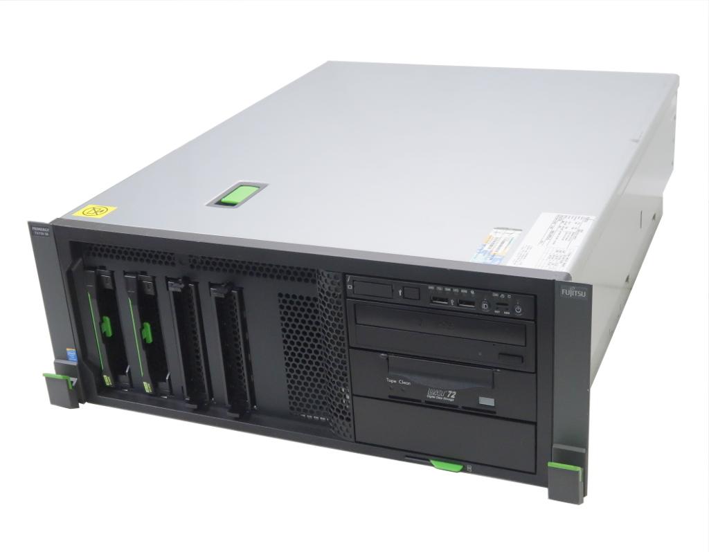 富士通 PRIMERGY TX150 S8 Pentium 1403 2.6GHz 8GB 300GBx2台(SAS3.5インチ/6Gbps/RAID1構成) DVD+-RW AC*2 D2607 冗長電源 【中古】【20190610】