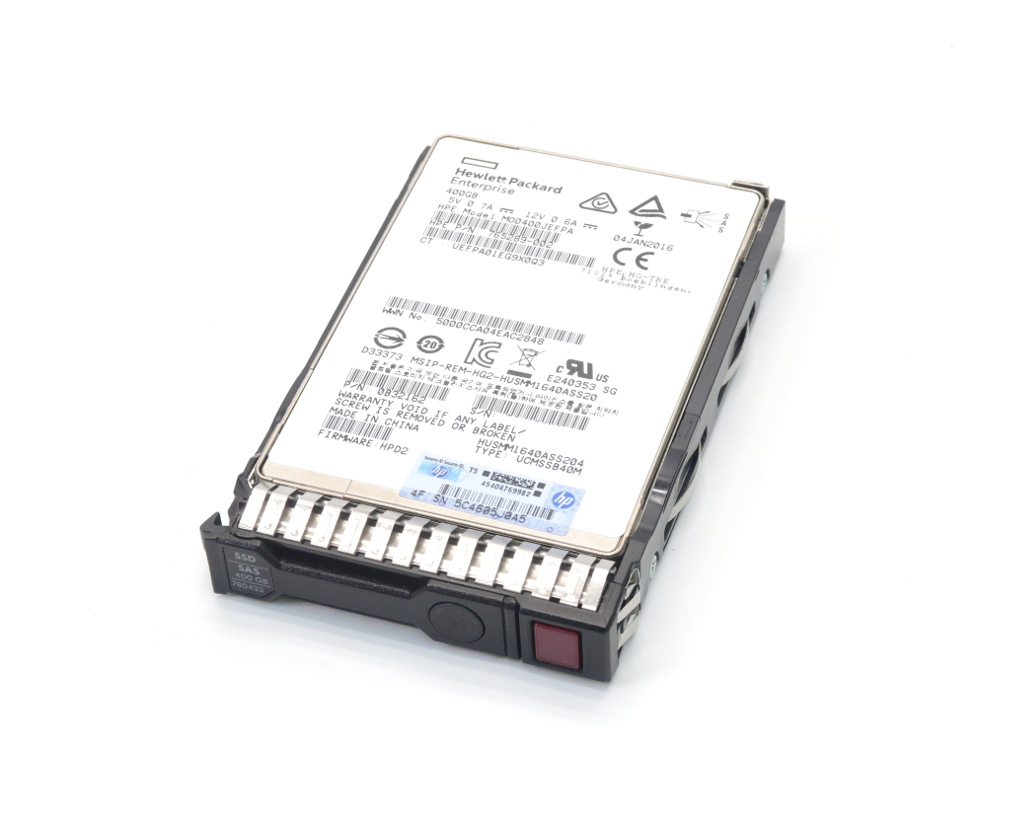 hp 780432-001 HUSMM1640ASS204 400GB MLC ME SC SSD 2.5インチSAS12Gbps ProLiant Gen8シリーズ等対応 【中古】【20191126】