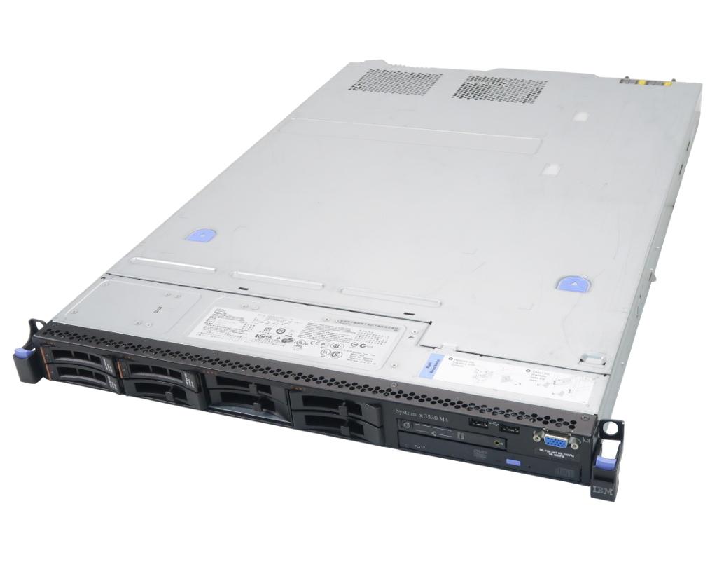 IBM System x3530 M4 Xeon E5-2407 2.2GHz 24GB 300GBx3台(SAS2.5インチ/RAID5) DVD-ROM AC*2 ServeRAID M5110 2.5インチモデル 【中古】【20191101】