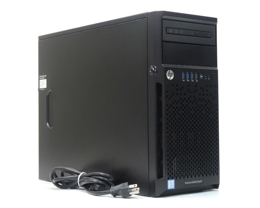 hp ProLiant ML30 Gen9 Xeon 定価 E3-1220 v5 3GHz 4GB 300GBx2台 ご予約品 AC 2 B140i SATA2.5インチ 10000rpm 中古 20200118 DVD+-RW SmartArray RAID1構成